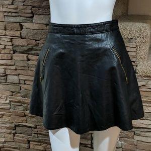 ↔️Free People vegan leather skirt size 0